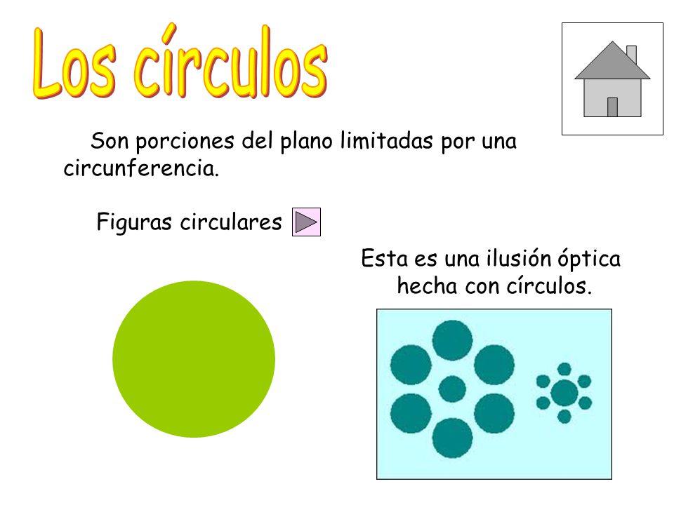 Son porciones del plano limitadas por una circunferencia.