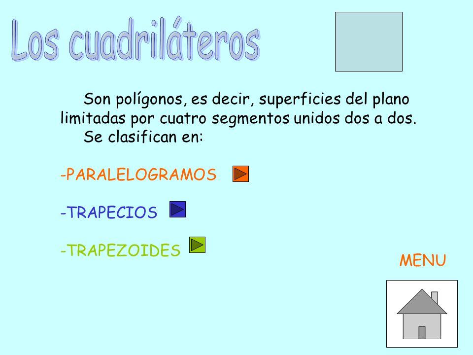 Los paralelogramos son cuadriláteros que tienen los lados paralelos dos a dos.