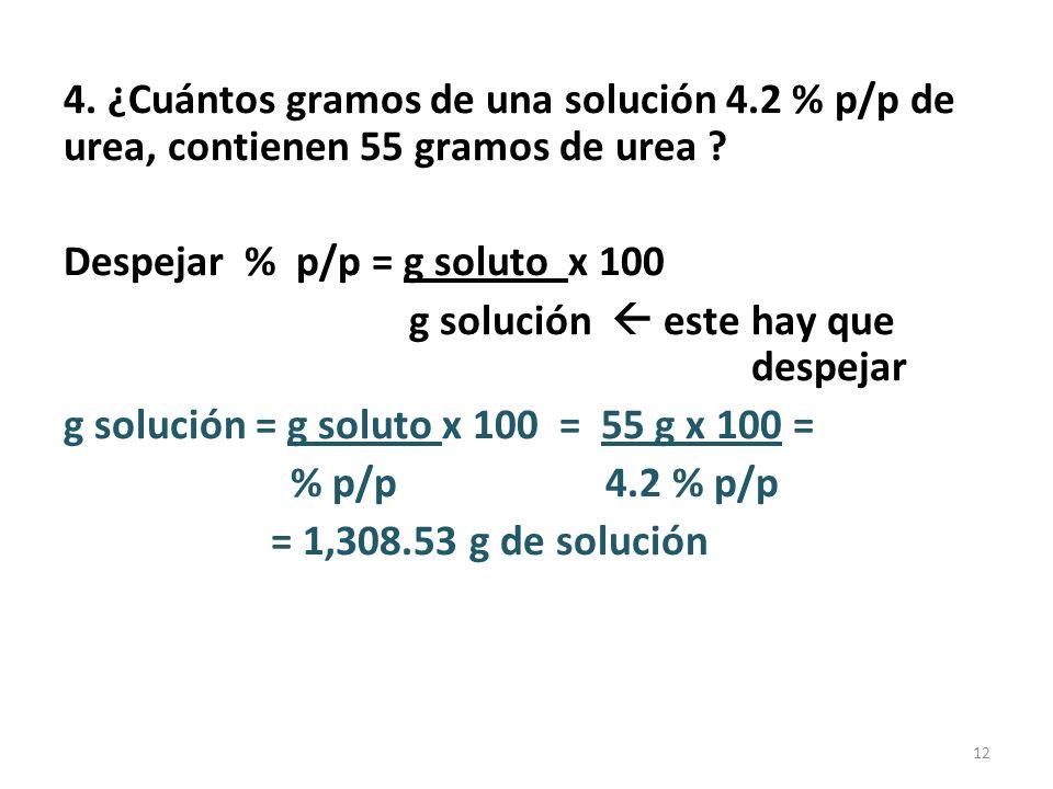 % en peso/volumen (% p/v) ó lo que es igual % masa/volumen (% m/v) Es la más común porque la mayoría de solutos son sólidos disueltos en agua.