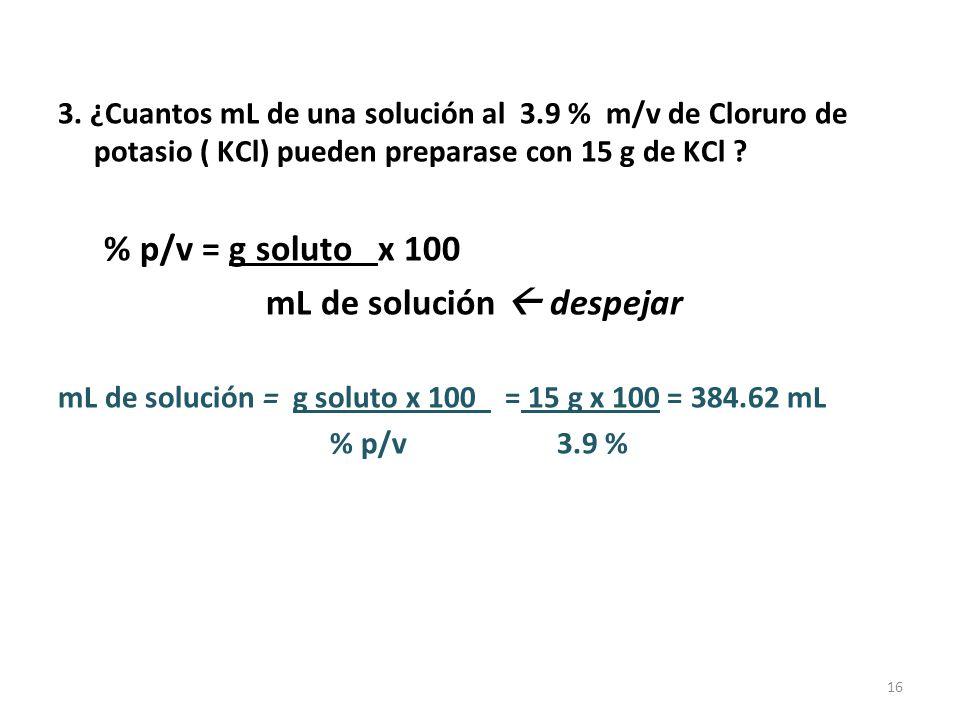 % volumen/volumen (%v/v) Para solutos y solventes líquidos.