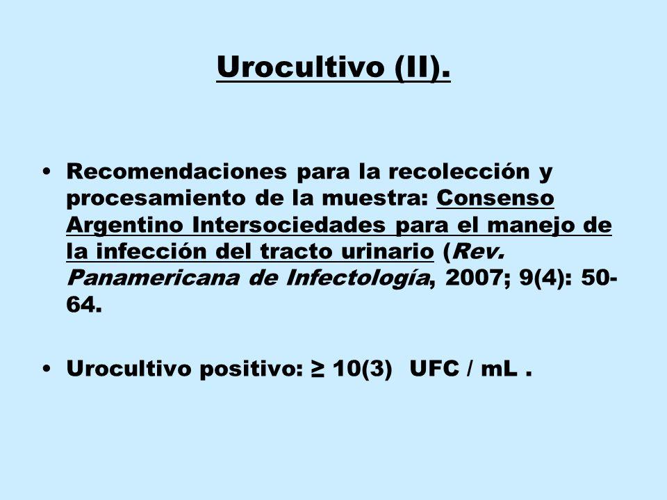 Urocultivo (II).