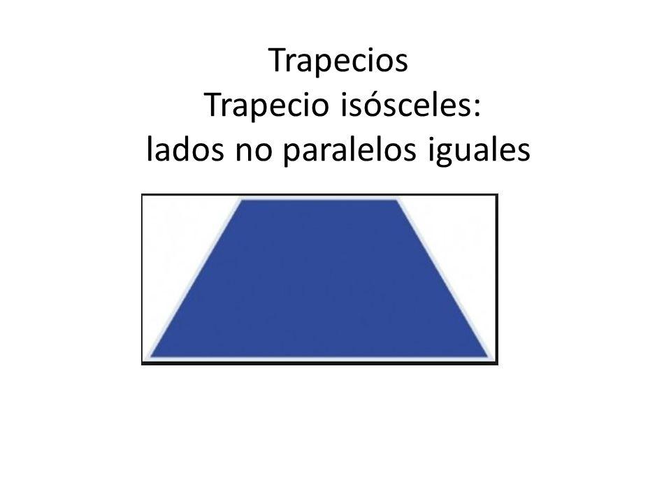 Trapecios Trapecio isósceles: lados no paralelos iguales