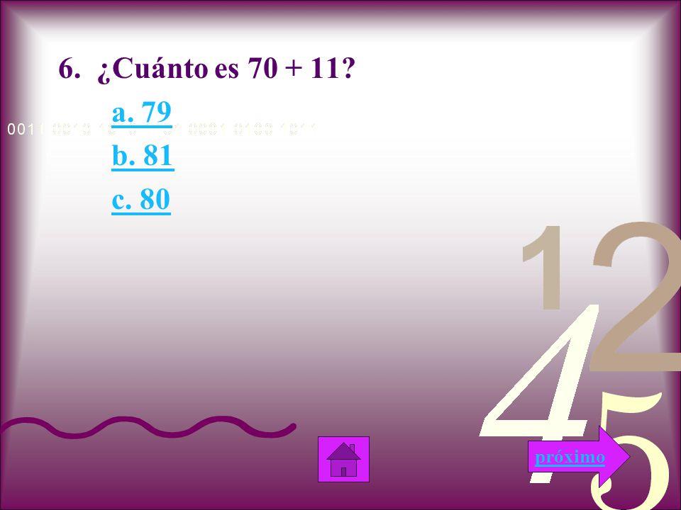 Incorrecto Esta respuesta es incorrecta porque cuando sumas las decenas no da resultado a 9.