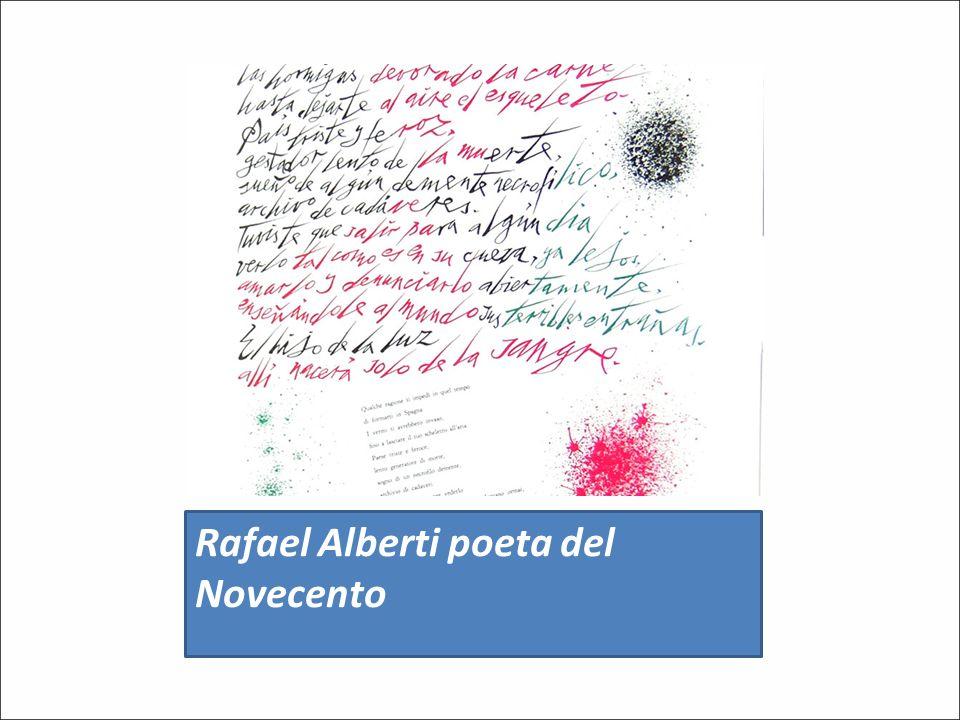 Rafael Alberti poeta del Novecento
