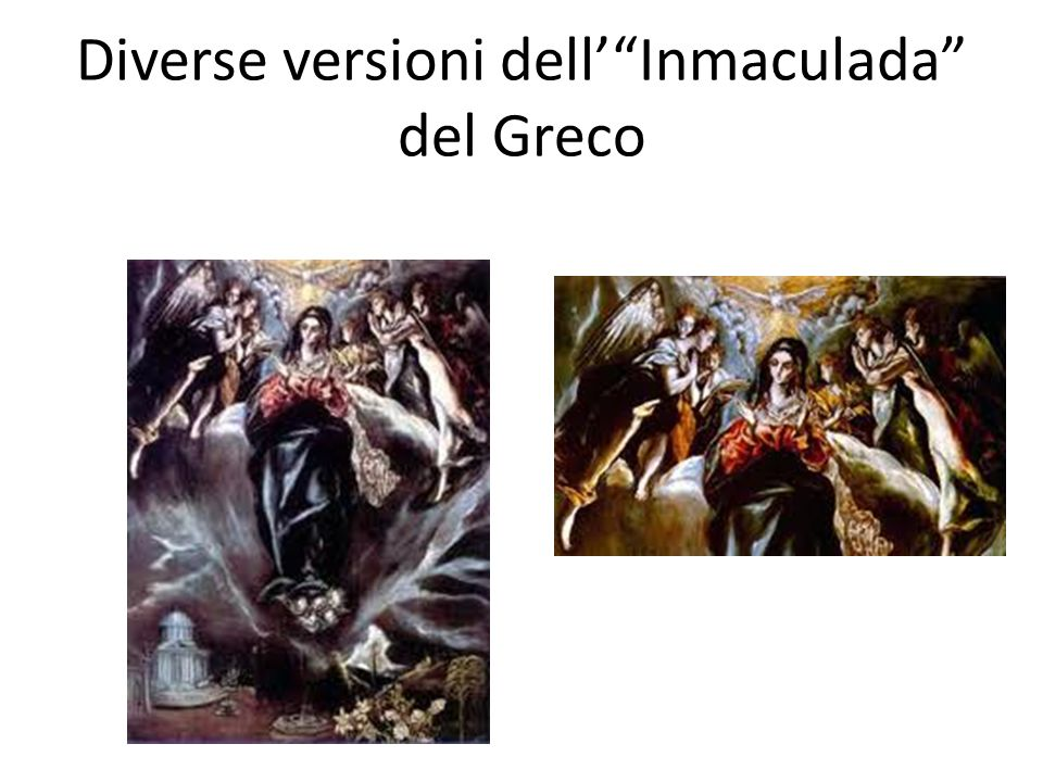 Diverse versioni dellInmaculada del Greco