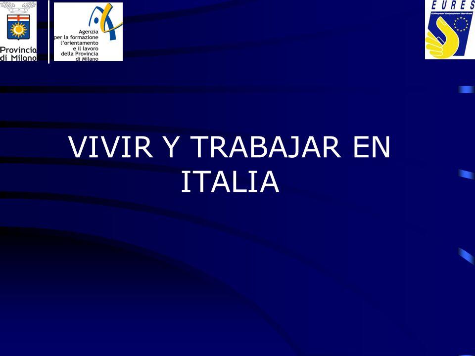 AGENCIAS DE TRABAJO En Italia es posible buscar un empleo también gracias a Agencias autorizadas por el Ministerio de Trabajo para prestar servicios en los distintos ámbitos de la intermediación laboral.