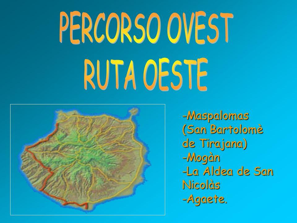 -Maspalomas (San Bartolomè de Tirajana) -Mogàn -La Aldea de San Nicolàs -Agaete.