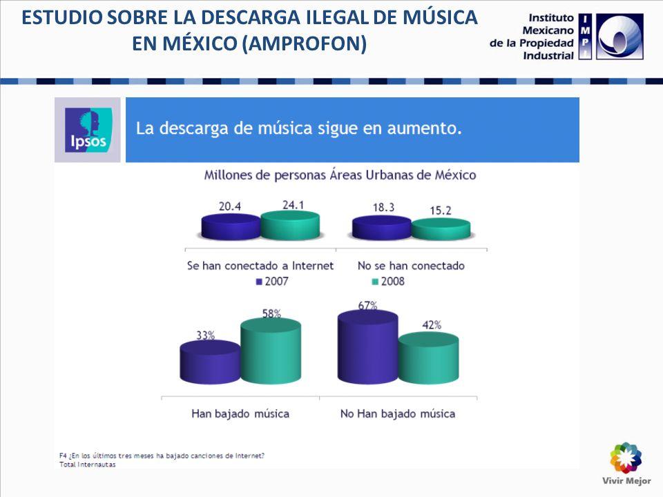ESTUDIO SOBRE LA DESCARGA ILEGAL DE MÚSICA EN MÉXICO (AMPROFON) 6 º estudio Anual de la BSA: La pirater í a del software en el mundo A nivel global, los datos reportados por la industria son los siguientes: Caso M é xico.