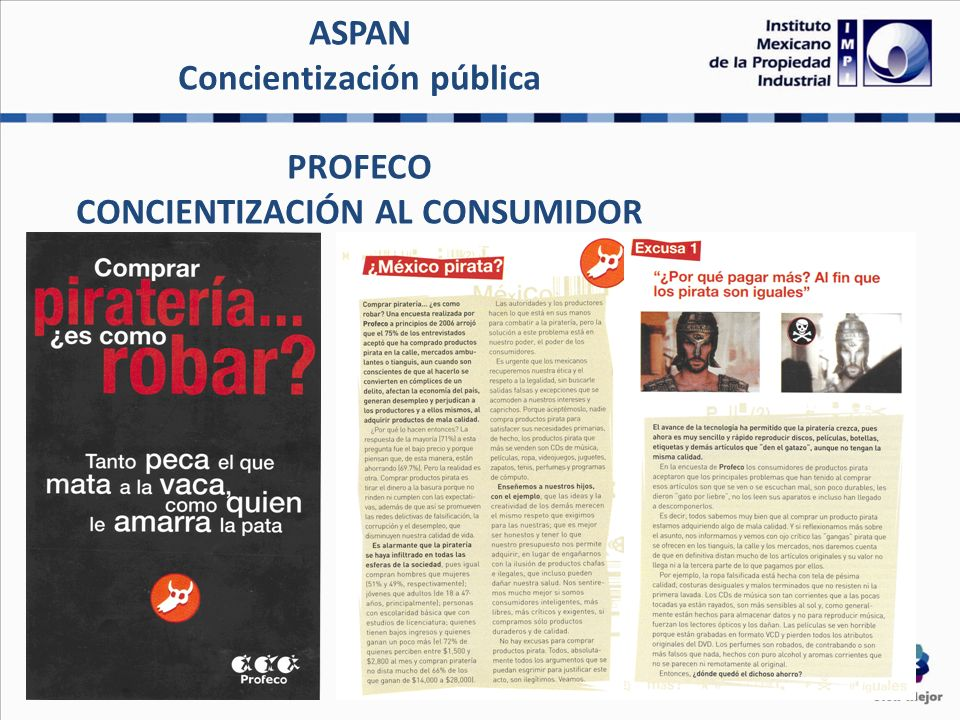 ASPAN Concientización pública PROFECO CONCIENTIZACIÓN AL CONSUMIDOR