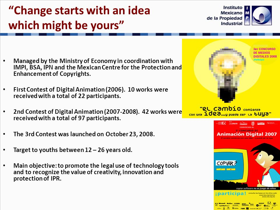 http//:pirateria.pgr.gob.mx Developed among PGR, Customs (AGA) and IMPI.