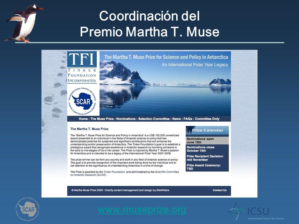 Coordinación del Premio Martha T. Muse www.museprize.org