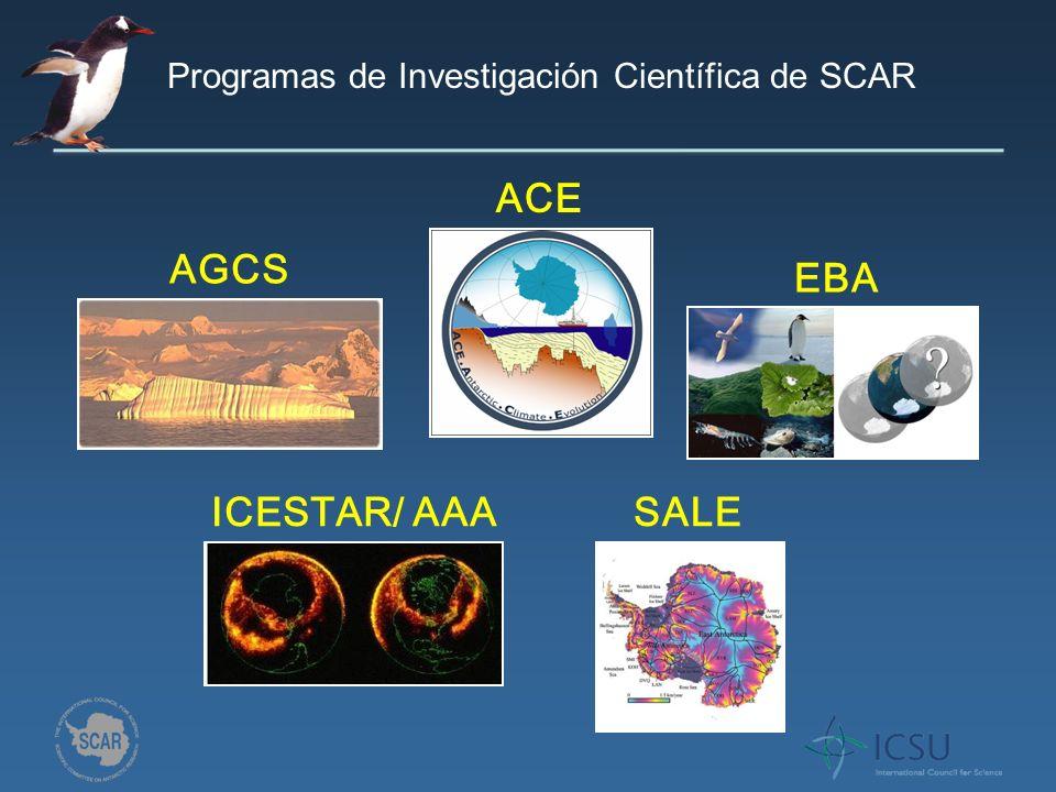 EBA SALE ACE ICESTAR/ AAA AGCS Programas de Investigación Científica de SCAR