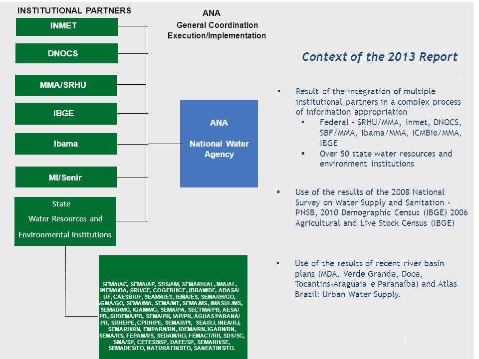 Contextualização do Relatório - 2013 Fruto da integração estabelecida com os diversos parceiros institucionais em um processo complexo de apropriação da informação.