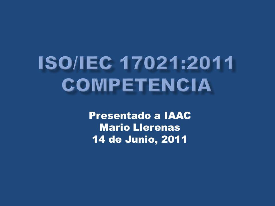 Presentado a IAAC Mario Llerenas 14 de Junio, 2011