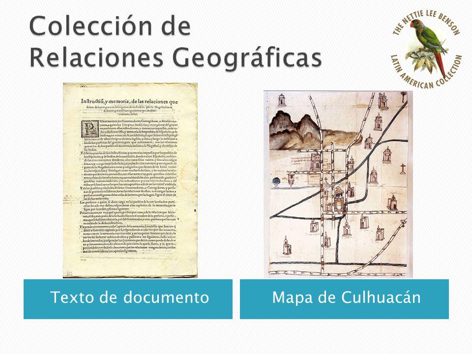 Texto de documentoMapa de Culhuacán