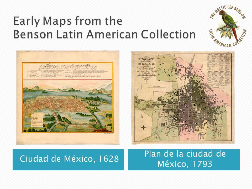 Ciudad de México, 1628 Plan de la ciudad de México, 1793