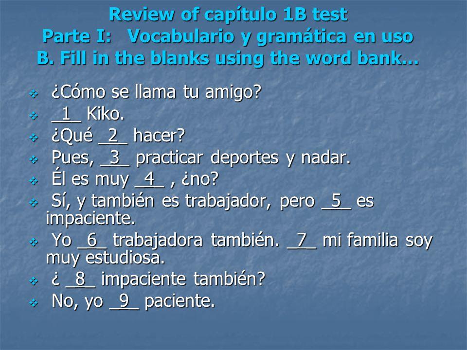 Subject Pronouns SingularPlural yo - Inosotros/as - we tú - you (informal)vosotros/as - y all (Spain) usted (Ud.) - you (F)ustedes (Uds.) - you él - heellos - they (m) ella - sheellas - they (f)
