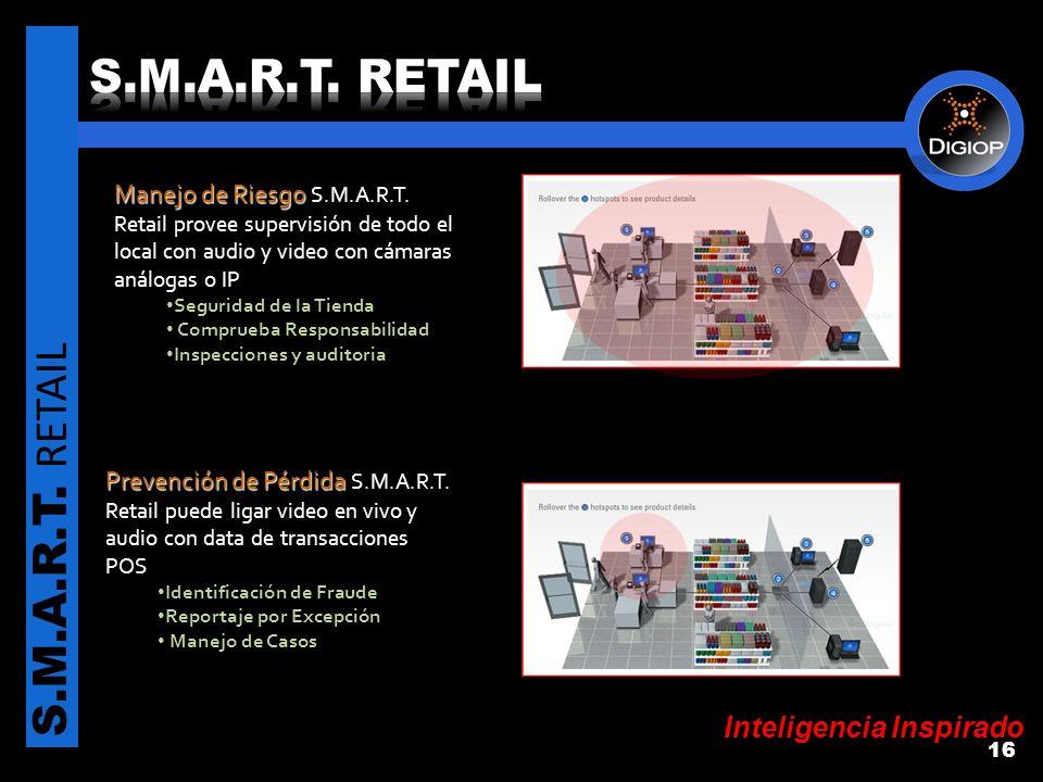 Inteligencia Inspirado S.M.A.R.T. RETAIL 16 Manejo de Riesgo Manejo de Riesgo S.M.A.R.T.