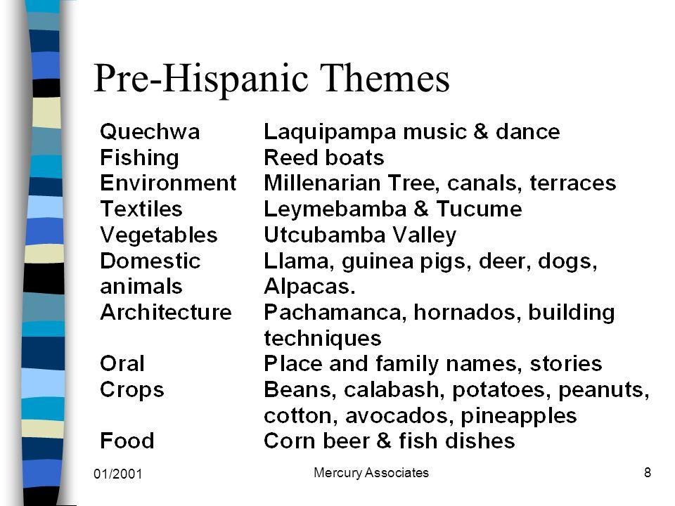 01/2001 Mercury Associates8 Pre-Hispanic Themes