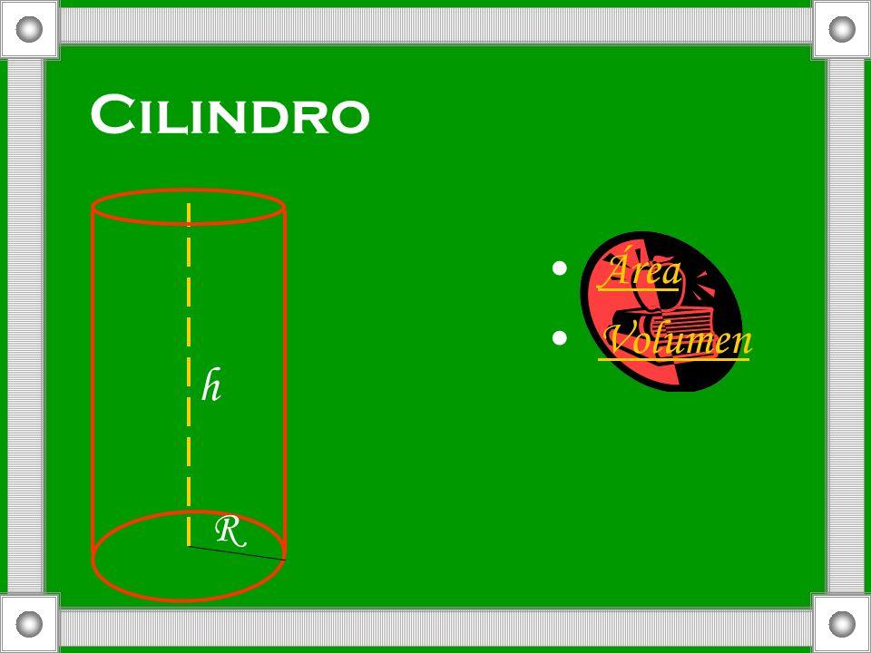 Cilindro R h Área Volumen