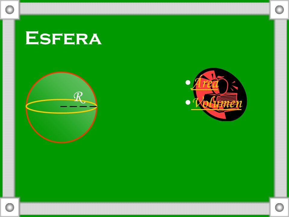 Esfera Área Volumen R