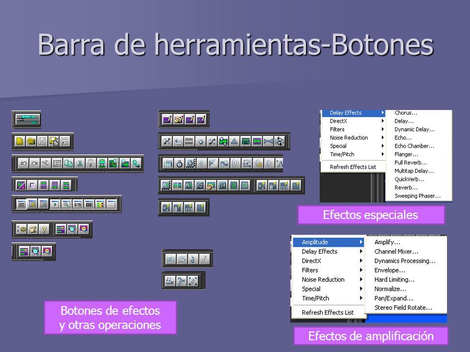 Barra de herramientas-Botones Botones de efectos y otras operaciones Efectos especiales Efectos de amplificación