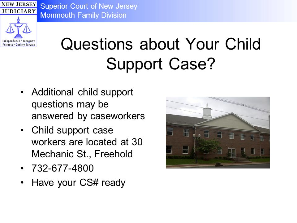 Questions about Your Child Support Case.
