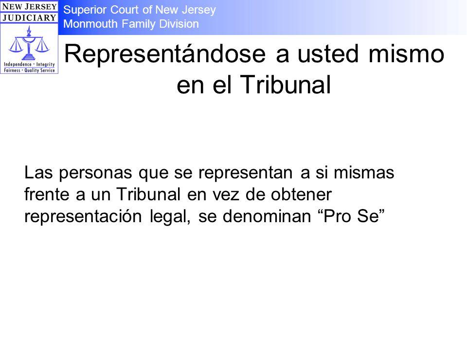 Representándose a usted mismo en el Tribunal Las personas que se representan a si mismas frente a un Tribunal en vez de obtener representación legal,