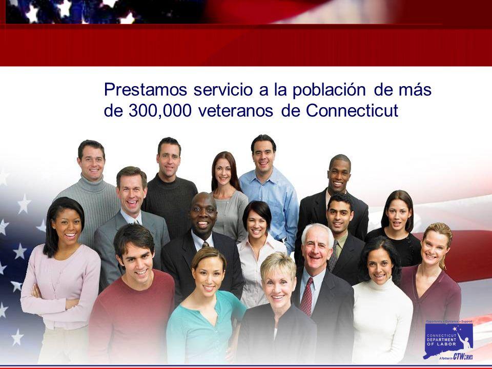 Prestamos servicio a la población de más de 300,000 veteranos de Connecticut