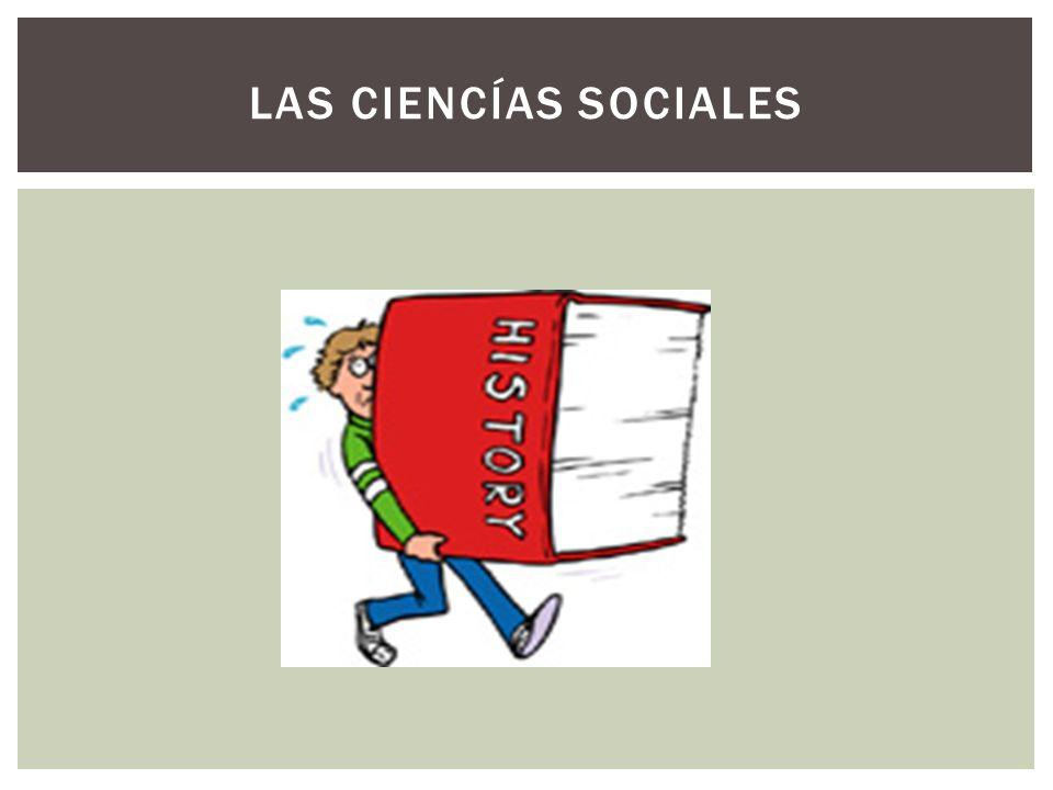 LAS CIENCÍAS SOCIALES