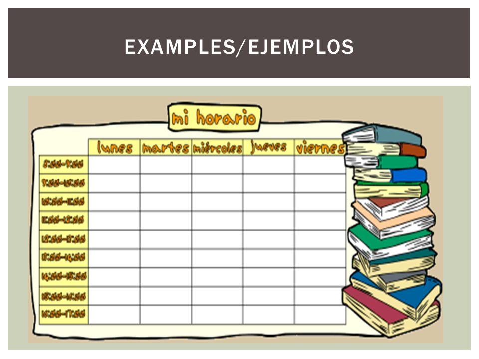 EXAMPLES/EJEMPLOS