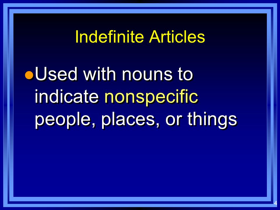 14 Write the correct indefinite article l _______ personas son organizadas.