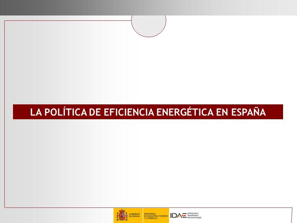 LA POLÍTICA DE EFICIENCIA ENERGÉTICA EN ESPAÑA