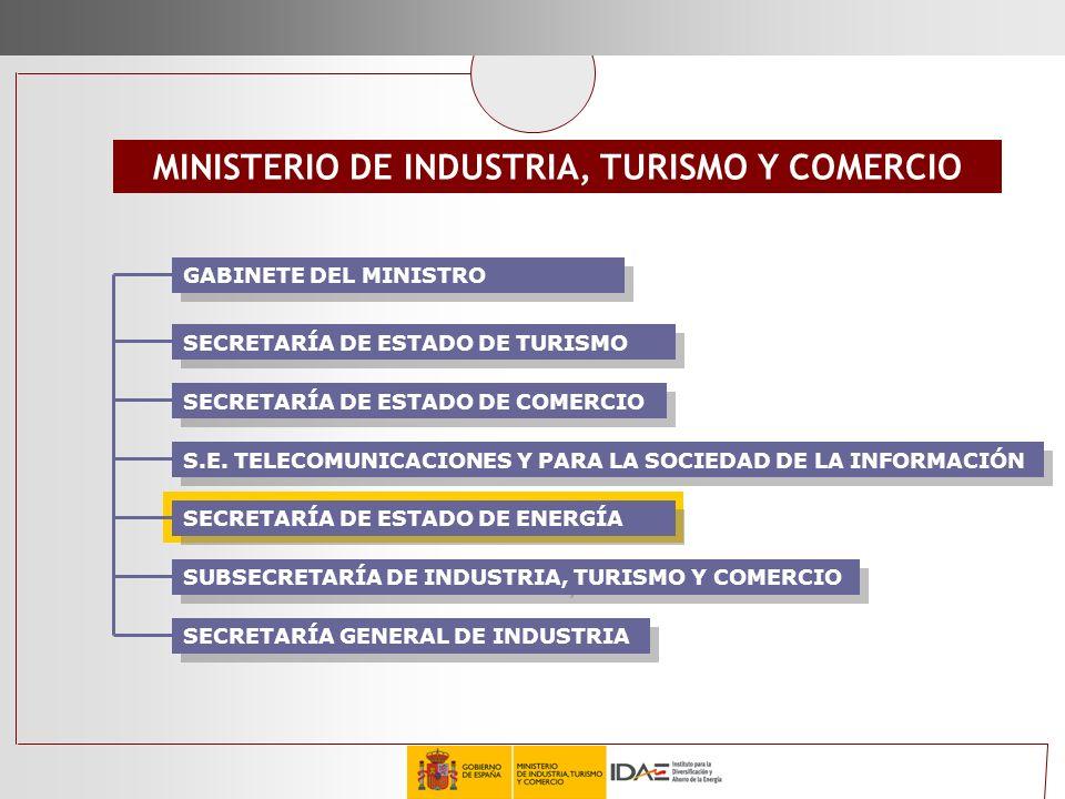 SECRETARÍA DE ESTADO DE TURISMO MINISTERIO DE INDUSTRIA, TURISMO Y COMERCIO S.E. TELECOMUNICACIONES Y PARA LA SOCIEDAD DE LA INFORMACIÓN SUBSECRETARÍA