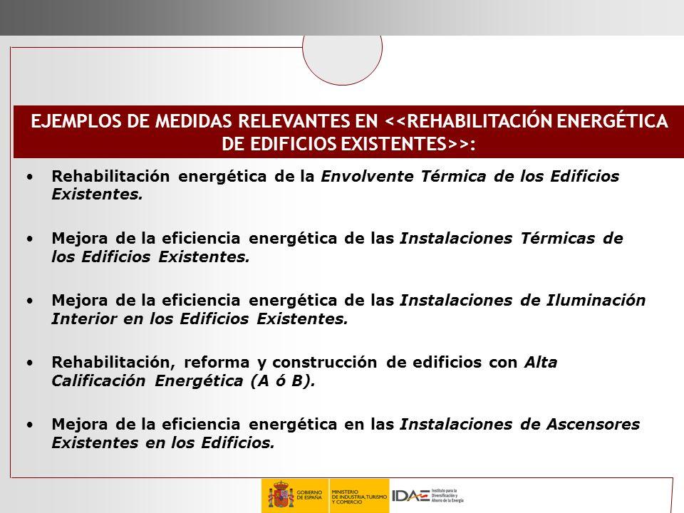 Rehabilitación energética de la Envolvente Térmica de los Edificios Existentes. Mejora de la eficiencia energética de las Instalaciones Térmicas de lo