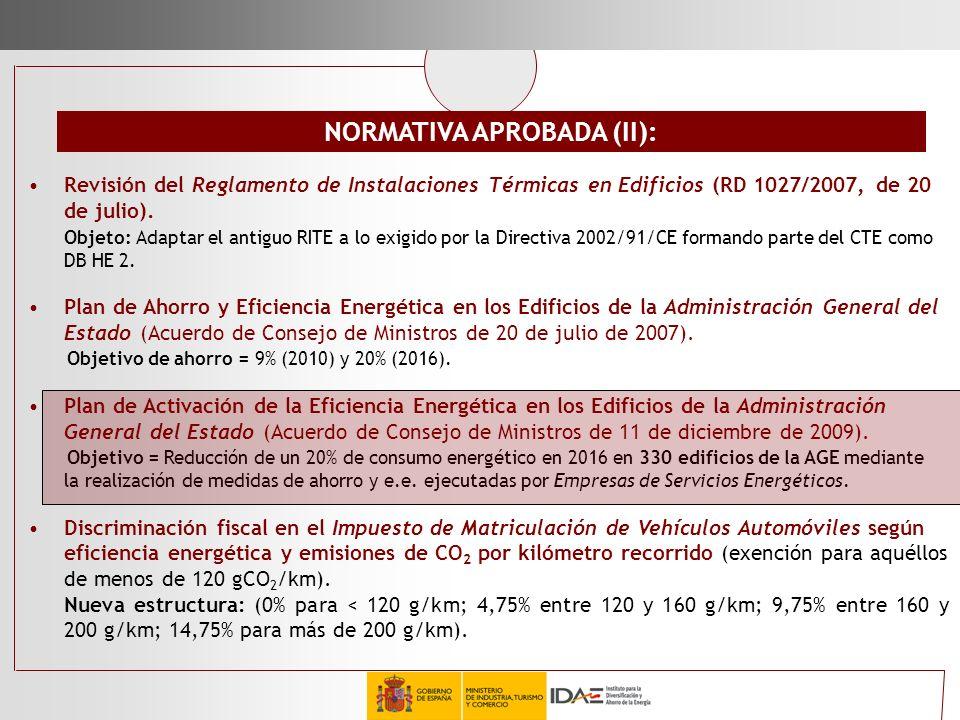 Revisión del Reglamento de Instalaciones Térmicas en Edificios (RD 1027/2007, de 20 de julio). Objeto: Adaptar el antiguo RITE a lo exigido por la Dir
