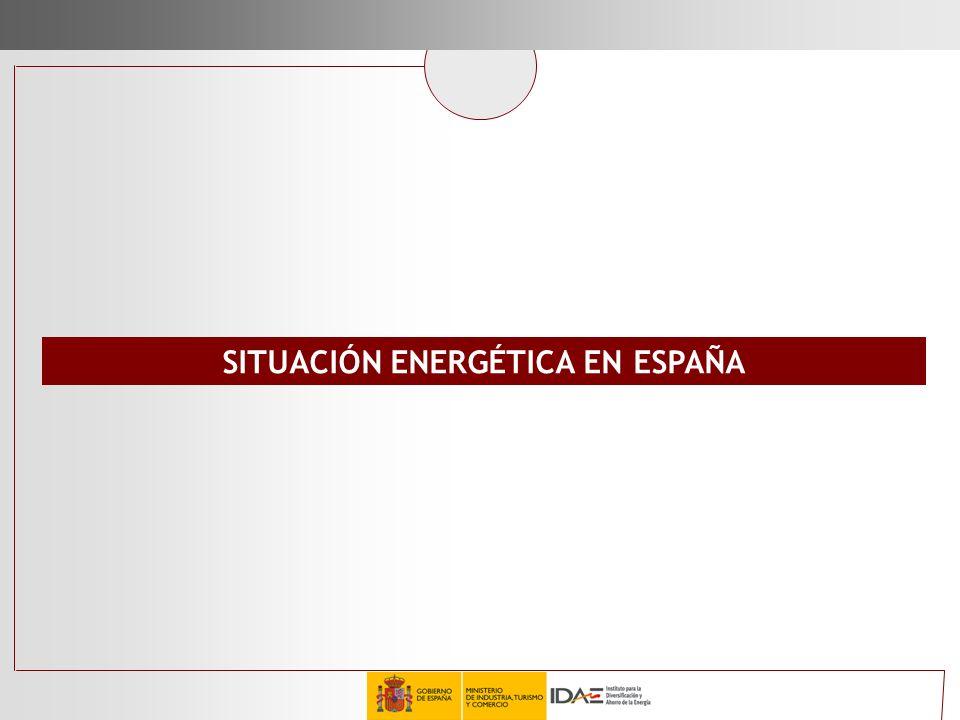 SITUACIÓN ENERGÉTICA EN ESPAÑA