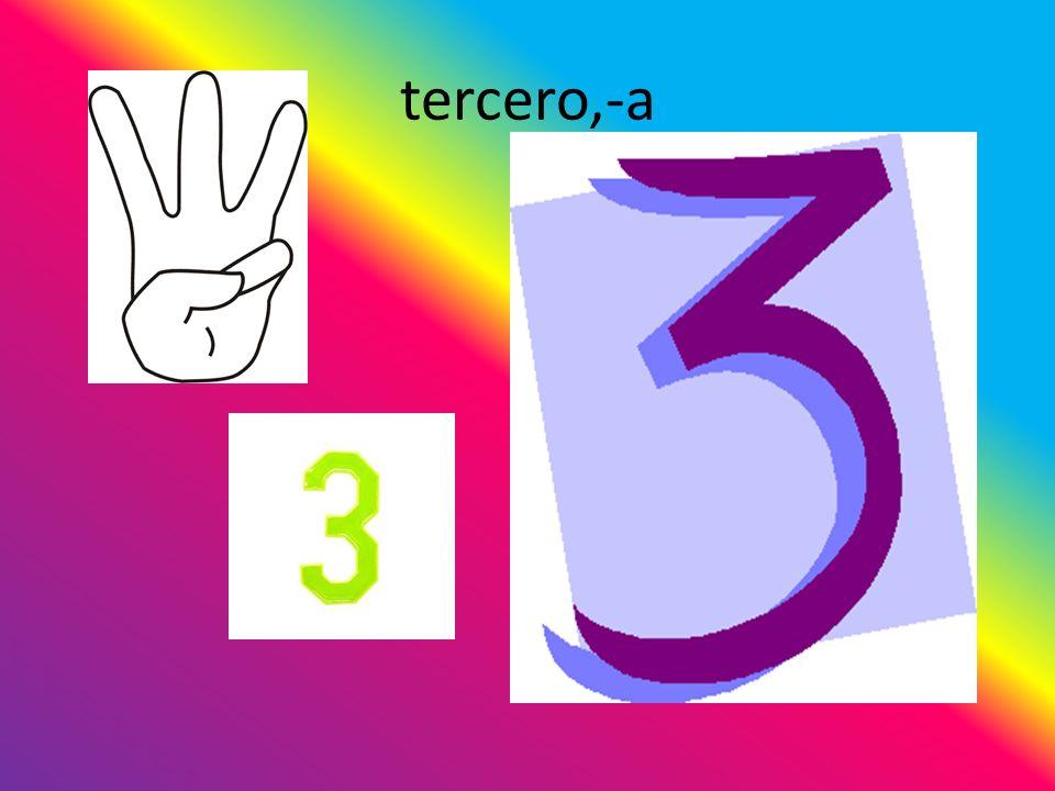 tercero,-a