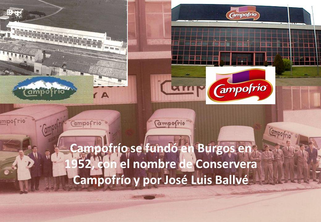 Globalización e Internacionalización, 15 de Junio - AINIA Vocación a la Internacionalización LOGO EVOLUTION En 1952: nace Campofrío.