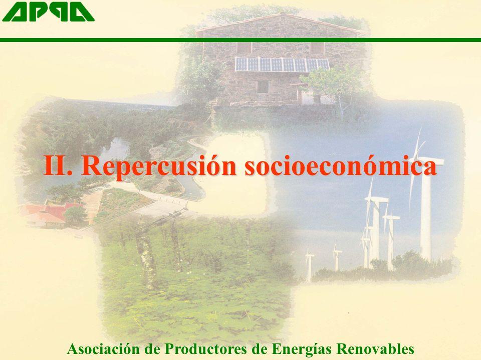 II. Repercusión socioeconómica Asociación de Productores de Energías Renovables