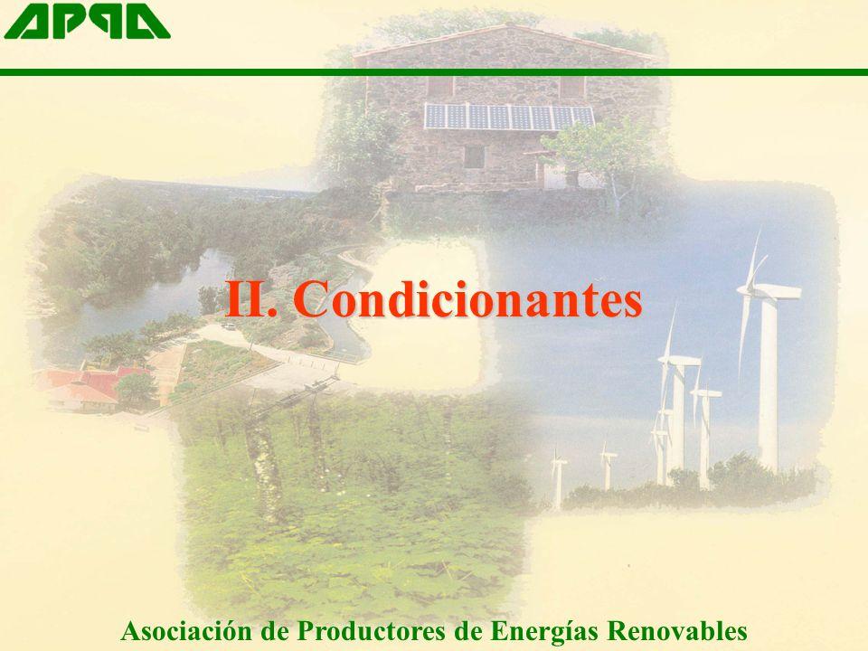 II. Condicionantes Asociación de Productores de Energías Renovables