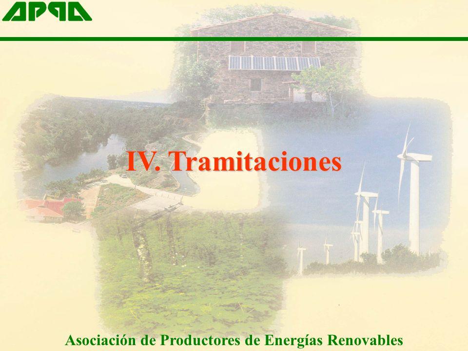 IV. Tramitaciones Asociación de Productores de Energías Renovables