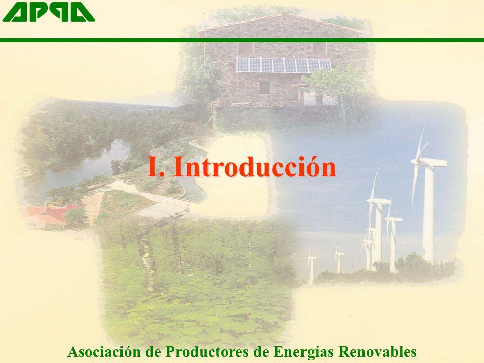 I. Introducción Asociación de Productores de Energías Renovables