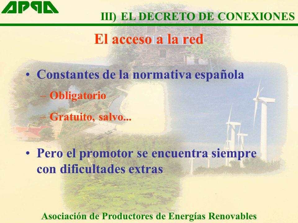 El acceso a la red Constantes de la normativa española –Obligatorio –Gratuito, salvo...