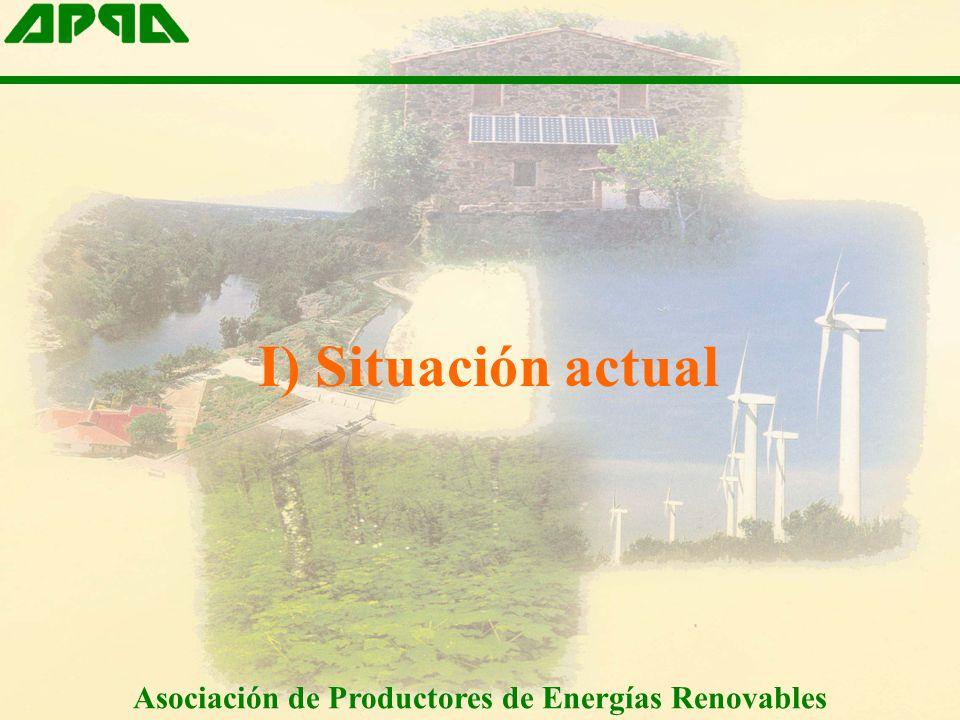 I) Situación actual Asociación de Productores de Energías Renovables