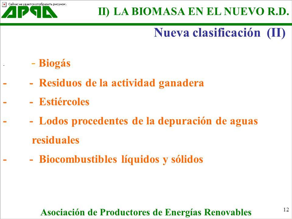 12 - - Biogás - - Residuos de la actividad ganadera - - Estiércoles - - Lodos procedentes de la depuración de aguas residuales - - Biocombustibles líq