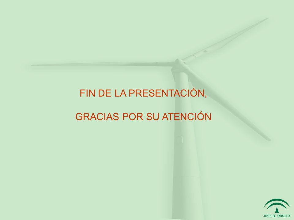 FIN DE LA PRESENTACIÓN, GRACIAS POR SU ATENCIÓN