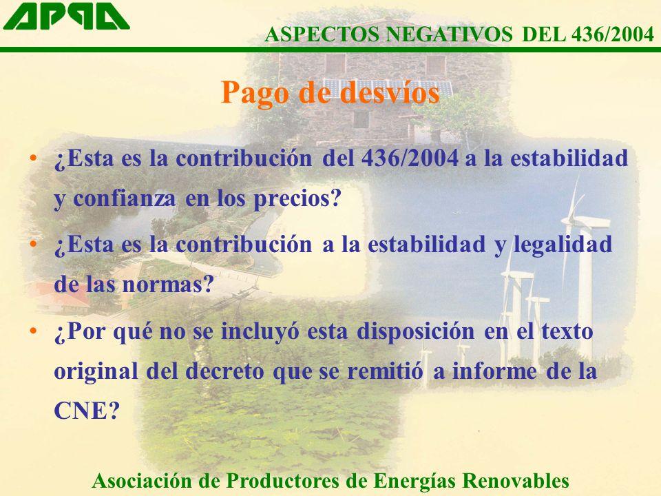 ¿Esta es la contribución del 436/2004 a la estabilidad y confianza en los precios.