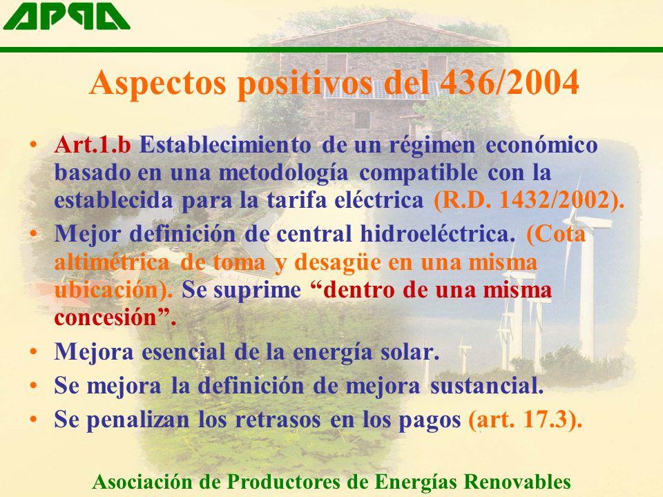 Art.1.b Establecimiento de un régimen económico basado en una metodología compatible con la establecida para la tarifa eléctrica (R.D.