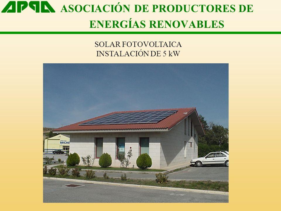 ASOCIACIÓN DE PRODUCTORES DE ENERGÍAS RENOVABLES SOLAR FOTOVOLTAICA INSTALACIÓN DE 30 kWp